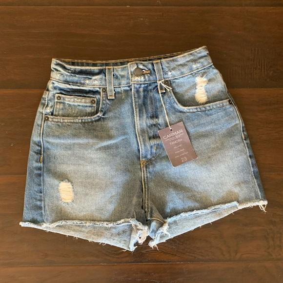 LF Pants - LF High Waist Denim Shorts